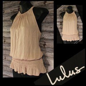 3/30<>Dusty Pink Peplum Blouse by Lulu's